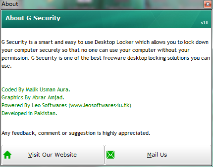 G Security Desktop Locker 3