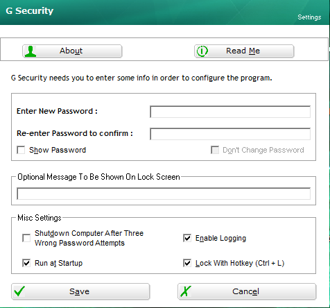 G Security Desktop Locker 2